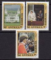 Antigua & Barbuda 1982 Princess Diana 21st Birthday Set Of 3, MNH, SG 748/50 - Antigua And Barbuda (1981-...)