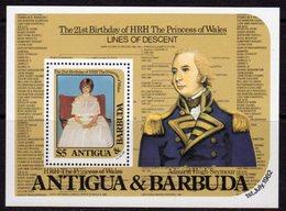 Antigua & Barbuda 1982 Princess Diana 21st Birthday MS, MNH, SG 751 - Antigua And Barbuda (1981-...)