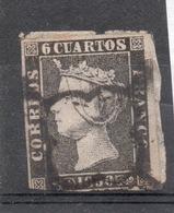 SPAGNA SPAIN 1850  6 C. Usato Il N. 1 Di SPAGNA - 1850-68 Kingdom: Isabella II