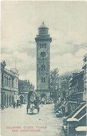 Cpa Asie, Sri-Lanka – Colombo – Clock Tower And Lighthouse - Sri Lanka (Ceylon)