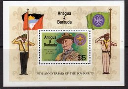Antigua & Barbuda 1982 75th Anniversary Of Boy Scouts MS, MNH, SG 756 - Antigua And Barbuda (1981-...)