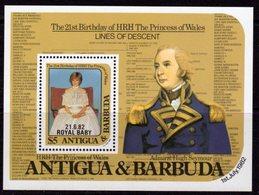 Antigua & Barbuda 1982 Royal Baby Overprint MS, MNH, SG 760 - Antigua And Barbuda (1981-...)