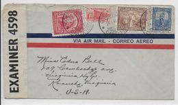 COLOMBIA - 1941 - ENVELOPPE Par AVION Avec CENSURE De CARTAGENA => VIRGINIA (USA) - Colombie