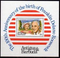 Antigua & Barbuda 1982 Birth Centenary Of Franklin D Roosevelt MS, MNH, SG 767 - Antigua And Barbuda (1981-...)