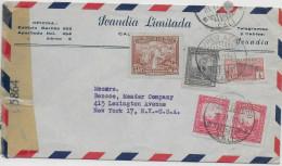 COLOMBIA - 1941 - ENVELOPPE Par AVION Avec CENSURE De CALI  => NEW YORK (USA) - Colombie