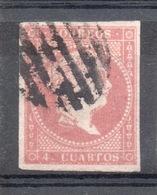 SPAGNA SPAIN 1856 4 Q. Usato - 1850-68 Kingdom: Isabella II