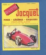 Biscotte Jacquet Buvard Voiture Automobile Course Rouge BMR  Illustration Dagobert Imp Armoricaine Nantes - Buvards, Protège-cahiers Illustrés