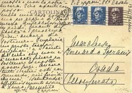 """866 """"LUOGOTENENZA- 1945-50C. VIOLETTO CON FR.LLI AGGIUNTI """" CART POST. ORIG   SPED - Cartoline"""