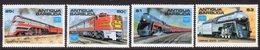 Antigua & Barbuda 1986 Ameripex Trains Set Of 4, MNH, SG 1014/7 - Antigua And Barbuda (1981-...)