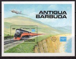 Antigua & Barbuda 1986 Ameripex Trains MS, MNH, SG 1018 - Antigua And Barbuda (1981-...)
