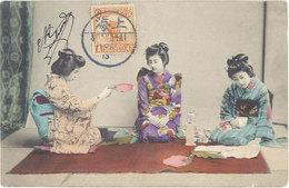 Cpa Asie, Japon – Geishas – Postée De Shangai - Non Classés