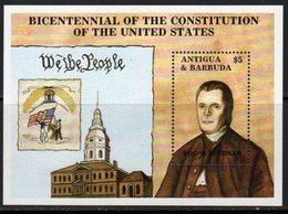 Antigua & Barbuda 1987 Bicentenary Of US Constitution MS, MNH, SG 1143 - Antigua And Barbuda (1981-...)
