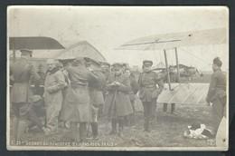 +++ CPA - Photo Carte - Foto Kaart - Avion Aviation Aviateur - Départ Du Ministre Hymans Pour Paris - IXELLES   // - ....-1914: Voorlopers