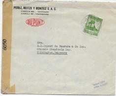 CHILE - 1944 - ENVELOPPE Avec CENSURE De SANTIAGO => WILMINGTON (USA) - Chili