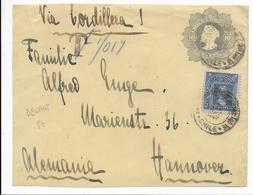 CHILE - 1907 - DEVANT (FRONT OF COVER) D'ENVELOPPE ENTIER POSTAL Avec TAXE => HANNOVER (ALLEMAGNE) - Chili