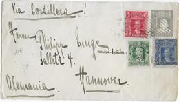 CHILE - 1907 - DEVANT (FRONT OF COVER) D'ENVELOPPE ENTIER POSTAL  => HANNOVER (ALLEMAGNE) - Chili