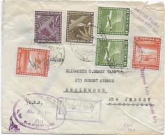 CHILE - 1954 - ENVELOPPE RECOMMANDEE  => ENGLEWOOD (USA) Avec CACHET De DOUANE - Chili