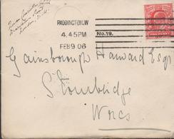 3304 Carta Paddington. W 1906 - Lettres & Documents