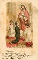Fêtes - Voeux - Religion - Communion - Souvenir De Ma Première Communion Faite En L'église De Saint Paul 1905 - état - Communion