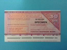 50 DM TRAVELLERS CHEQUE SPECIMEN DEUTSCHER REISESCHECK FUNFZIG DEUTSCHE MARK - Germania