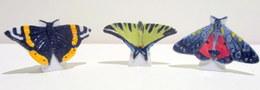PROMO - Fèves Brillantes - Série Atlas - Les Papillons Par 3 - Le Vulcain, Le Flambé Et Le L'Ecaille Rouge - Animals