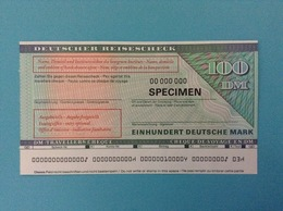 100 DM TRAVELLERS CHEQUE SPECIMEN DEUTSCHER REISESCHECK FUNFZIG DEUTSCHE MARK - Germania