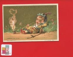 Chocolat GUERIN BOUTRON Jolie Chromo Minot Amour Chine Fumeur D'opium  Pipe Européen Déguisé En Chinois  Femme - Guérin-Boutron