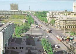 OUZBEKISTAN---capitale TASHKENT---lenin Prospekt--( Bus Tramway )--voir  2 Scans - Uzbekistan