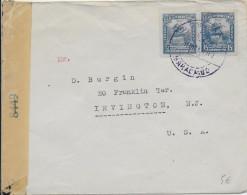 VENEZUELA - 1942 - ENVELOPPE Avec CENSURE De MARACAIBO => IRVINGTON (USA) - Venezuela