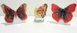 PROMO - Fèves Brillantes - Série Atlas - Les Papillons Par 3 - Etats-Unis, Carte Géographique Et Rép. De Centrafrique - Animals