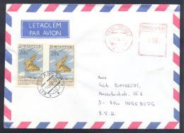 Czech Republic 1988 Air Mail Cover: Butterfly Schmetterling Mariposa Papillon; - Schmetterlinge