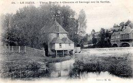 NW_cpa 72_LE MANS, Vieux Moulin à Chanvre Et Barrage Sur La Sarthe - Le Mans