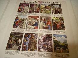 ANCIENNE PUBLICITE LIQUEUR GRANDE CHARTREUSE HISTOIRE SECRETE   1953 - Alcoholes