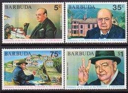 Barbuda 1974 Churchill Birth Centenary Set Of 4, MNH, SG 203/6 - Antigua And Barbuda (1981-...)
