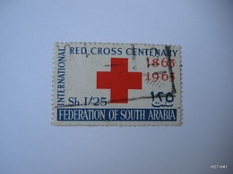 FEDERATION OF SOUTH ARABIA 1963.  International Red Cross Centenary. 1s.25 - Red And Blue. SG 2. Used. - Cruz Roja