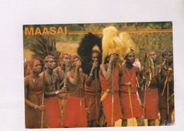 CPM KENYA,MAASAI WARRIORS (voir Timbres) - Kenya