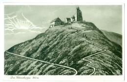 1939, German Liebau-Trautenau Postmark, On Mountain Road View Pc. - Allemagne
