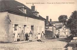 10 - AUBE / Eaux Puiseaux - 101338 - Place De La Poste Et Café De L'avenir - Other Municipalities