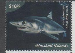 MARSHALL ISLANDS , 2018, MNH, MARINE LIFE,SHARKS, MAKO SHARK,1v - Peces