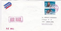 SOBRE ENVELOPE CIRCULEE USA TO BUENOS AIRES 1986- BLEUP - United States