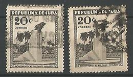 Monuments Aux Morts De Guerre 20c Gris Noir - Cuba