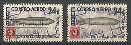 Graff Zeppelin 24c Violet Noir Et Carmin - Poste Aérienne