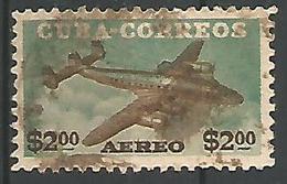 Correo Aereo 2p Vert Et Brun - Airmail