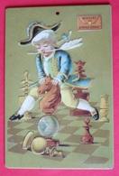 Plaque Métallique - Ministre Des Affaires Etrangères Avec Bicorne - Jouant Au Echec - Chess - 15 Cm X 10 Cm - Altri