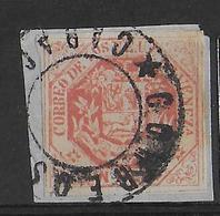 VENEZUELA - 1865 - YT N° 17 OBLITERE SUR PETIT FRAGMENT   - COTE = 25++ EUR - Venezuela