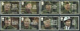 GROSSBRITANNIEN GRANDE BRETAGNE GB 2018 DAD'S ARMY SET OF 8V USED SG 4070-77 - 1952-.... (Elizabeth II)