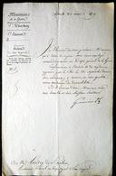 MINISTERE DE LA GUERRE 1819 MUTATION DE LANDRY DE SAINT AUBIN AU DEPOT GENERAL DE LA GUERRE - Documents