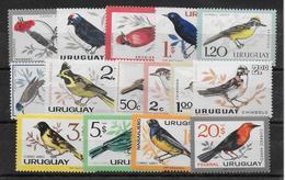 URUGUAY - 1963 - OISEAUX - YT N°706/709 + PA 234/243 ** - COTE = 44 EUR - Uruguay