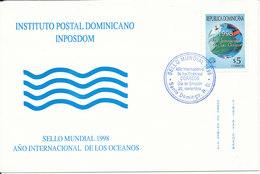 Dominican FDC 20-11-1998 Marine Life International Year Of The Ocean - Dominicaine (République)
