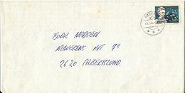 Greenland Cover Sent To Denmark Nuuk Godthab 28-10-1985 Single Stamped Queen Ingrid Of Denmark - Groenlandia